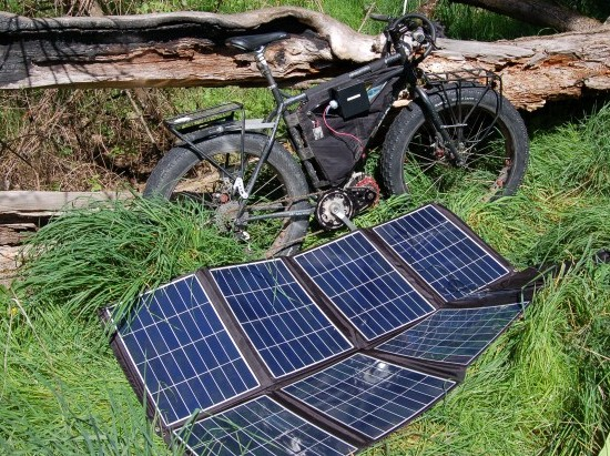 E bike solar ladegerat