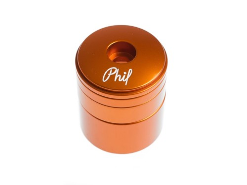 Phil Wood Headset and Spacer Set - Orange