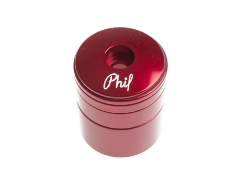 Phil Wood Headset and Spacer Set - Red